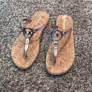 Michael Kors Rose Gold Summer Sandals Size 7